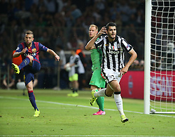 06-06-2015 GER: UEFA Champions League final Juventus - Barcelona, Berlin<br /> Alvaro Morata (Juventus Turin #9) beim Torjubel nach dem Treffer zum 1:1 mit Torwart Marc-Andre ter Stegen (FC Barcelona #1) und Jordi Alba (FC Barcelona #18) during the UEFA Champions League final match between Juventus FC and Barcelona FC at the Olympia Stadion in Berlin<br /> <br /> ***NETHERLANDS ONLY***