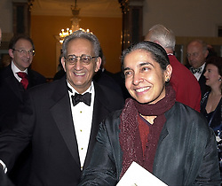 Artist FRANK STELLA and MISS ASHA SARABHAI at a <br /> dinner in London on 23rd May 2000.OEL 3