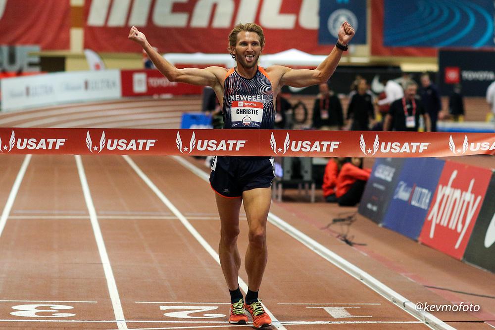2020 USATF Indoor Championship<br /> Albuquerque, NM 2020-02-14<br /> photo credit: © 2020 Kevin Morris<br /> mens 3000m walk,