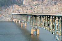Koocanusa Bridge spanning the Koocanusa Reservoir is the longest and highest bridge in Montana