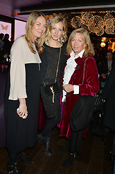 Left to right, TORI COOK, SAVANNAH MILLER and ADRIANNE COOK at a party to celebrate the Astley Clarke & Theirworld Charitable Partnership held at Mondrian London, Upper Ground, London on 10th March 2015.