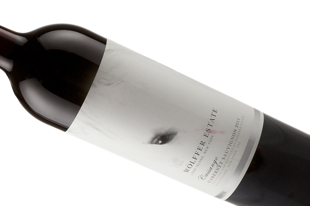 An older bottle of Cabernet Sauvignon from Wolffer Estate on Long Island, New York