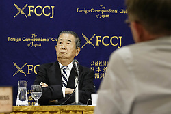 December 18, 2018 - Tokyo, Japan - Ex-Tokyo Governor Shintaro Ishihara attends a news conference at The Foreign Correspondents' Club of Japan. Ishihara alongside Masaru Sasaki former Vice President of Tokyo Metropolitan Health and Medical Treatment Corporation and expert in disaster, came to the Club to call for better medical responses for Japanese Self-Defense Forces (SDF) whom risk their lives in defense of the country. In October, a Japanese soldier died and another was injured due to a traffic accident during a joint drill in the Philippines. (Credit Image: © Rodrigo Reyes Marin/ZUMA Wire)