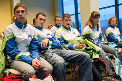 Press conference of Special olympic team of Slovenia before departure to Special Olympics PyeongChang 2013 in South Korea on January 24, 2013 in Hotel Mons, Ljubljana, Slovenia. The next Special Olympics World Games take place in PyeongChang, South Korea, 29 January to 5 February 2013. The 2013 Special Olympics World Winter Games will feature world-class competition in alpine skiing, cross-country skiing, figure skating, snowboarding and speedskating, among other sports.(Photo by Vid Ponikvar / Sportida.com)