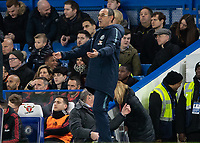 Football - 2018 / 2019 Emirates FA Cup - Fifth Round: Chelsea vs. Manchester United <br /> <br /> Maurizio Sarri, Manager of Chelsea FC, appeals to his team at Stamford Bridge<br /> <br /> COLORSPORT/DANIEL BEARHAM