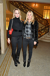 Left to right, ELISABETH MELNITCHENKO and MARISSA MONTGOMERY at the Lancôme BAFTA Dinner held at The Cafe Royal, Regent's Street, London on 6th February 2015.