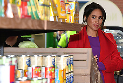 Prince Harry and Meghan Markle visit Number 7, a Feeding Birkenhead citizen's supermarket and community café, to official open the new premises in Birkenhead, Merseyside, UK, on the 14th January 2019. Picture by Anthony Devlin/WPA-Pool. 14 Jan 2019 Pictured: Meghan Markle, Duchess of Sussex. Photo credit: MEGA TheMegaAgency.com +1 888 505 6342