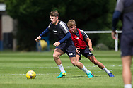 Dundee&rsquo;s Lewis Spence and Mark O&rsquo;Hara -  Dundee FC - Pre-season training at University Grounds, Riverside, Dundee, Photo: David Young<br /> <br />  - &copy; David Young - www.davidyoungphoto.co.uk - email: davidyoungphoto@gmail.com