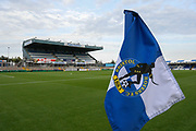 General view of The Memorial Stadium with the corner flag ahead of the EFL Cup match between Bristol Rovers and Brighton and Hove Albion at the Memorial Stadium, Bristol, England on 27 August 2019.