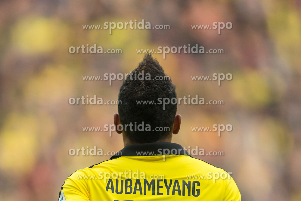 02.04.2016, Signal Iduna Park, Dortmund, GER, 1. FBL, Borussia Dortmund vs SV Werder Bremen, 28. Runde, im Bild Pierre-Emerick Aubameyang (Borussia Dortmund #17) // during the German Bundesliga 28th round match between Borussia Dortmund and SV Werder Bremen at the Signal Iduna Park in Dortmund, Germany on 2016/04/02. EXPA Pictures &copy; 2016, PhotoCredit: EXPA/ Eibner-Pressefoto/ Sch&uuml;ler<br /> <br /> *****ATTENTION - OUT of GER*****