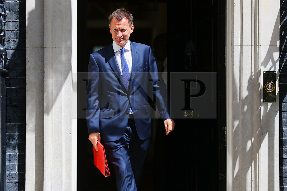 © Licensed to London News Pictures. 17/07/2018. London, UK. Foreign Secretary Jeremy Hunt leaves 10 Downing Street after the Cabinet meeting. Photo credit: Rob Pinney/LNP