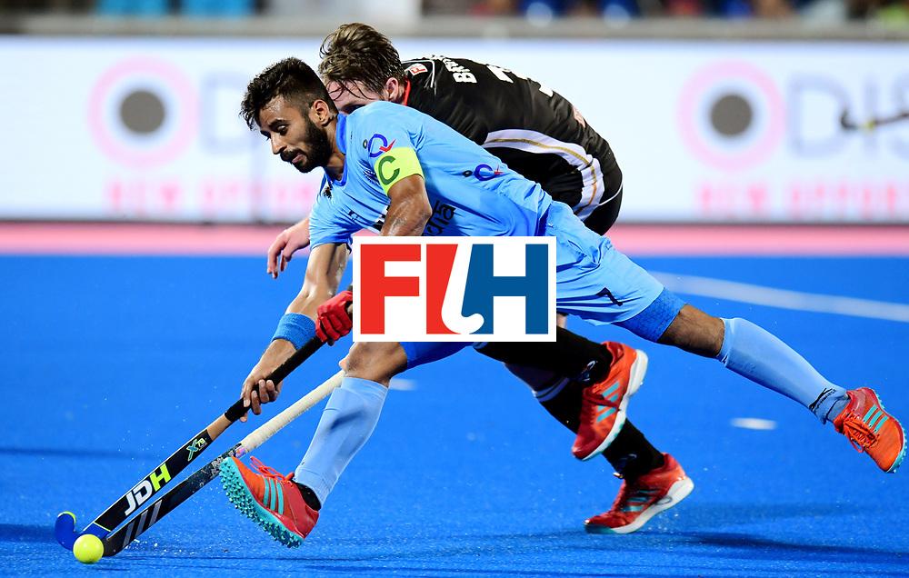 Odisha Men's Hockey World League Final Bhubaneswar 2017<br /> Match id:21<br /> India v Germany<br /> Foto: Manpreet Singh (Ind) <br /> COPYRIGHT WORLDSPORTPICS FRANK UIJLENBROEK