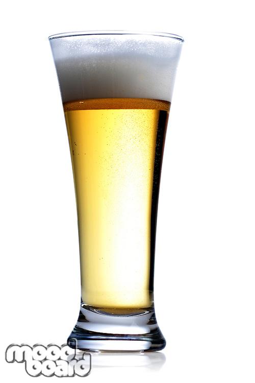 Studio shot of beer on white background