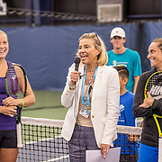 August 23, 2016, New Haven, Connecticut: <br /> A USTA Foundation clinic is held during Day 5 of the 2016 Connecticut Open at the Yale University Tennis Center on Tuesday, August  23, 2016 in New Haven, Connecticut. <br /> (Photo by Billie Weiss/Connecticut Open)