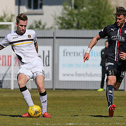 Robert Thomson passes forward  during the Dumbarton v Falkirk Scottish Championship 06 May 2017<br /> <br /> <br /> <br /> <br /> <br /> (c) Andy Scott | SportPix.org.uk