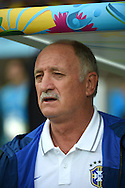 Luiz Felipe Scolari, head coach of Brazil during the 2014 FIFA World Cup match at Mineir&atilde;o, Belo Horizonte<br /> Picture by Stefano Gnech/Focus Images Ltd +39 333 1641678<br /> 08/07/2014