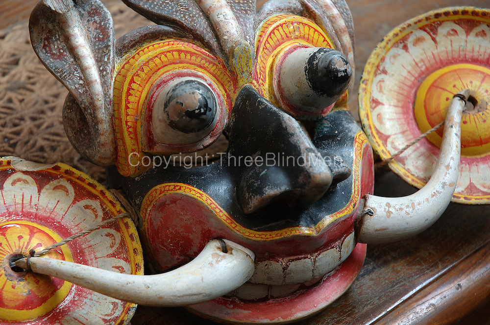 Antique ritual mask.