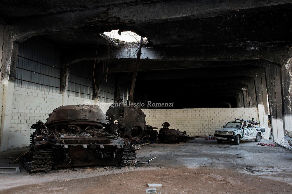 Libya, Misurata: destroyed tanks and military facilities by NATO bombing in 2011. Alessio Romenzi