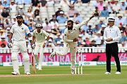 Adil Rashid of England bowling during second day of the Specsavers International Test Match 2018 match between England and India at Edgbaston, Birmingham, United Kingdom on 2 August 2018. Picture by Graham Hunt.