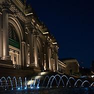 The Metropolitan Museum and new fountains.