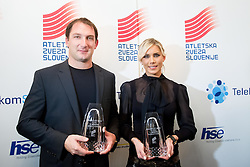 Best of 2013 Primoz Kozmus and Snezana Rodic during the Slovenia's Athlete of the year award ceremony by Slovenian Athletics Federation AZS on November 8, 2013 in Grand Hotel Toplice, Bled, Slovenia. Photo by Vid Ponikvar / Sportida