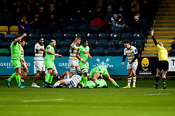 Pau scores his sides first try of the game - Mandatory by-line: Ryan Hiscott/JMP - 15/12/2018 - RUGBY - Sixways Stadium - Worcester, England - Worcester Warriors v Pau - European Rugby Challenge Cup