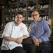 Chef Cameron Grant and partner Aldo Zaninotto in their restaurant Wednesday, Aug. 20, 2014 at Osteria Langhe. (Brian Cassella/Chicago Tribune) B583951540Z.1 <br /> ....OUTSIDE TRIBUNE CO.- NO MAGS,  NO SALES, NO INTERNET, NO TV, CHICAGO OUT, NO DIGITAL MANIPULATION...