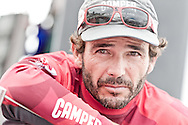CHINA, Sanya. 4th February 2012. Volvo Ocean Race. Leg 3 Arrivals. Roberto Bermudez de Castro, Helmsman, CAMPER with Emirates Team New Zealand.