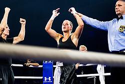 October 21, 2017 - Melsomvik, NORWAY - 171021 Joanna Ekedahl of Sweden celebrates victory against Hannah Rankin of Great Britain (not pictured) during the Oslofjord Fight Night on October 21, 2017 in Melsomvik..Photo: Fredrik Varfjell / BILDBYRN / kod FV / 150032 (Credit Image: © Fredrik Varfjell/Bildbyran via ZUMA Wire)