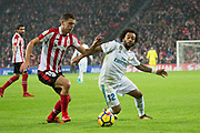 Oscar De Marcos of Athletic Club and Marcelo of Real Madrid in action during the Spanish championship Liga football match Athletic Club and Real Madrid on December 2, 2017 at San Mames Stadium in Bilbao, Spain - Photo UGS / Spain ProSportsImages / DPPI / ProSportsImages / DPPI