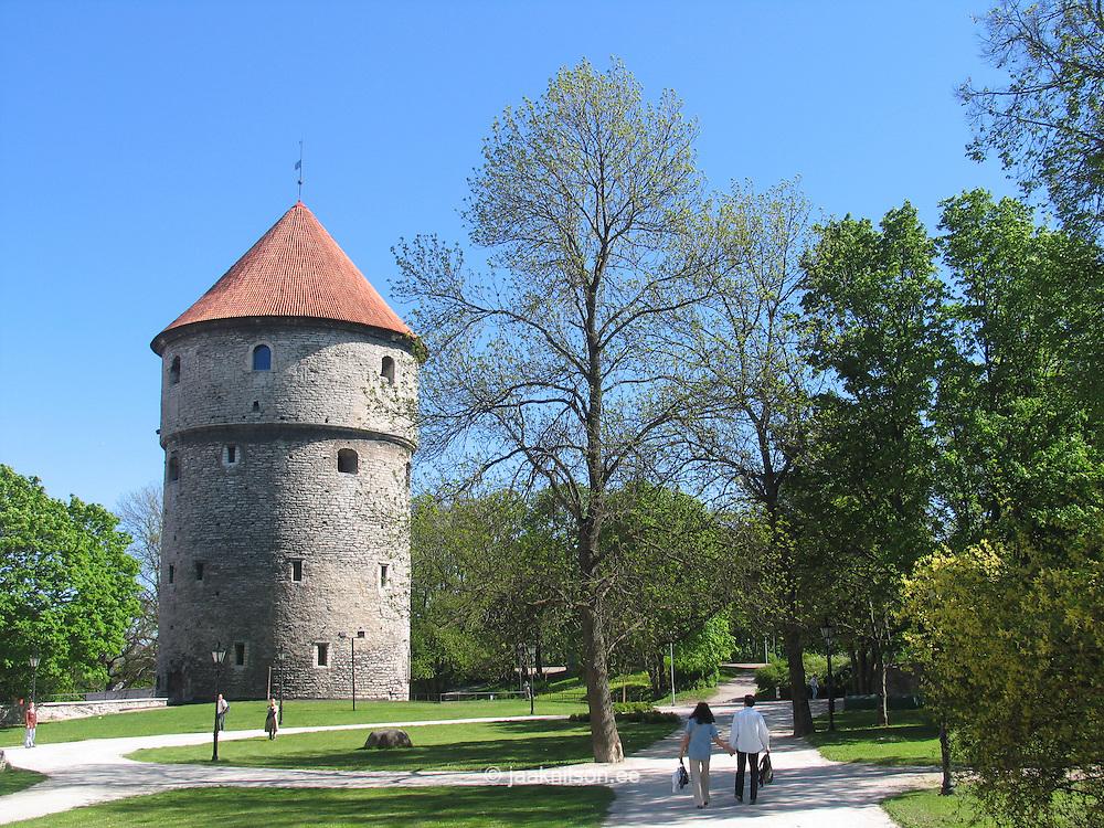 Cannon Tower Kiek In De Kök in Old Medieval Hansa Tallinn, Estonia