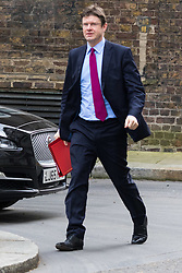 Downing Street, London, March 8th 2016. Communities Secretary Greg Clark arrives for the weekly UK cabinet meeting at Downing Street. ©Paul Davey<br /> FOR LICENCING CONTACT: Paul Davey +44 (0) 7966 016 296 paul@pauldaveycreative.co.uk