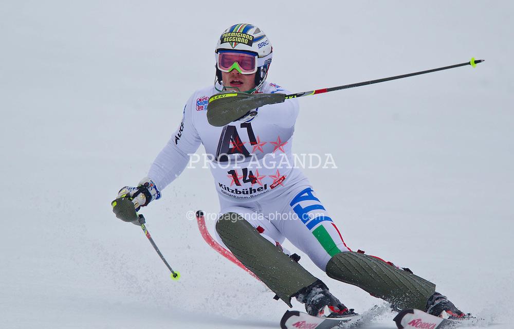 22.01.2012, Ganslernhang, Kitzbuehel, AUT, FIS Weltcup Ski Alpin, 72. Hahnenkammrennen, Herren, Slalom 1. Durchgang, im Bild Giuliano Razzoli (ITA) // Giuliano Razzoli of Italy during Slalom race 1st run of 72th Hahnenkammrace of FIS Ski Alpine World Cup at 'Ganslernhang' course in Kitzbuhel, Austria on 2012/01/22. EXPA Pictures © 2012, PhotoCredit: EXPA/ Markus Casna