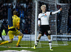 Derby County's Will Hughes celebrates scoring the second goal-Photo mandatory by-line: Matt Bunn/JMP - Tel: Mobile: 07966 386802 09/11/2013 - SPORT - FOOTBALL - Pride Park - Derby - Derby County v Sheffield Wednesday - Sky Bet Championship