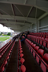 LLANELLI, WALES - Saturday, September 15, 2012: A view from the main stand as Llanelli take on Newtown during the Welsh Premier League match at Stebonheath Park. (Pic by David Rawcliffe/Propaganda)