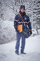 Letter carrier, Bill Hauek, South Addition neighborhood, Anchorage