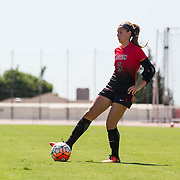 25 September 2016: The San Diego State Aztecs women's soccer team took on Colorado College Tigers at the SDSU Sports Deck. The Aztecs beat the Tigers 1-0. www.sdsuaztecphotos.com