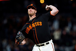 SAN FRANCISCO, CA - SEPTEMBER 15: Will Smith #13 of the San Francisco Giants pitches against the Colorado Rockies during the ninth inning at AT&T Park on September 15, 2018 in San Francisco, California. The San Francisco Giants defeated the Colorado Rockies 3-0. (Photo by Jason O. Watson/Getty Images) *** Local Caption *** Will Smith