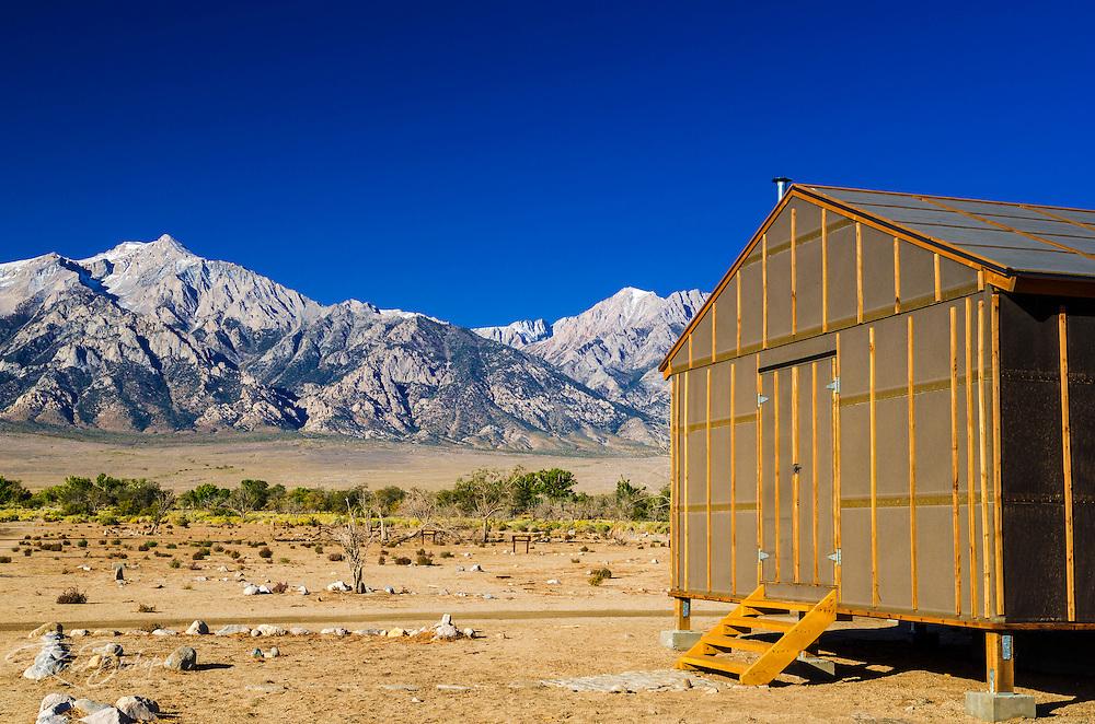 Barracks at Manzanar National Historic Site, Lone Pine, California USA