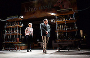 How to Hold Your Breath<br /> by Zinnie Harris <br /> directed by Vicky Featherstone<br /> at The Royal Court Theatre, London, Great Britain <br /> press photocall<br /> 9th February 2015 <br /> <br /> Maxine Peake as Dana<br /> Peter Forbes as Librarian <br /> <br /> <br /> <br /> Photograph by Elliott Franks <br /> Image licensed to Elliott Franks Photography Services