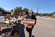 Volunteers build homes for Habitat for Humanity, Tucson, Arizona, USA.