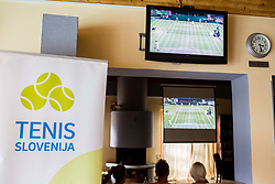 Wimbledon Finals after Press conference 2 weeks before ATP Challenger Zavarovalnica Sava Slovenia Open 2017, on July 16, 2017 in TC Breskvar, Ljubljana, Slovenia. Photo by Vid Ponikvar / Sportida