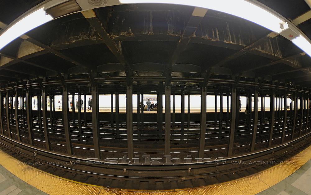 Subway station in Manhattan.