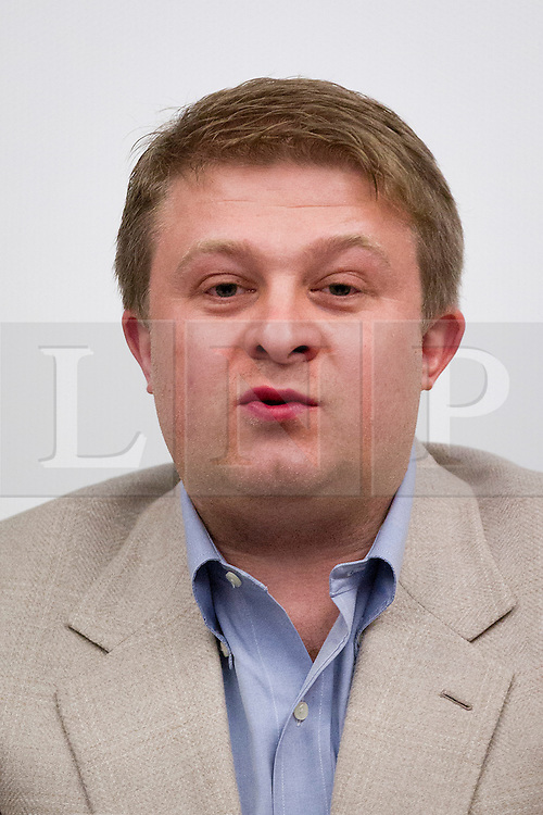© Licensed to London News Pictures. 28/11/12. London, UK. Victor Kislyi, CEO of computer games company Wargaming is seen at a press conference at the Imperial War Museum in London today (28/11/12) ahead of an expedition to Burma to uncover up to 36 Supermarine Spitfire fighter aircraft thought to be buried by the British RAF when they left the country after World War Two. The expedition, to be led by David Cundall in January of 2013 is backed by Wargaming and the University of Leeds. Photo credit: Matt Cetti-Roberts/LNP