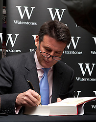 © Licensed to London News Pictures. 15/11/2012. London, U.K..Sebastian Coe book signing at Waterstones in Leadenhall Market, london, this lunchtime (15/11/2012)..Chairman of the British Olympic Association signs copies of his new autobiography, Running my Life, released November 8..Photo credit : Rich Bowen/LNP