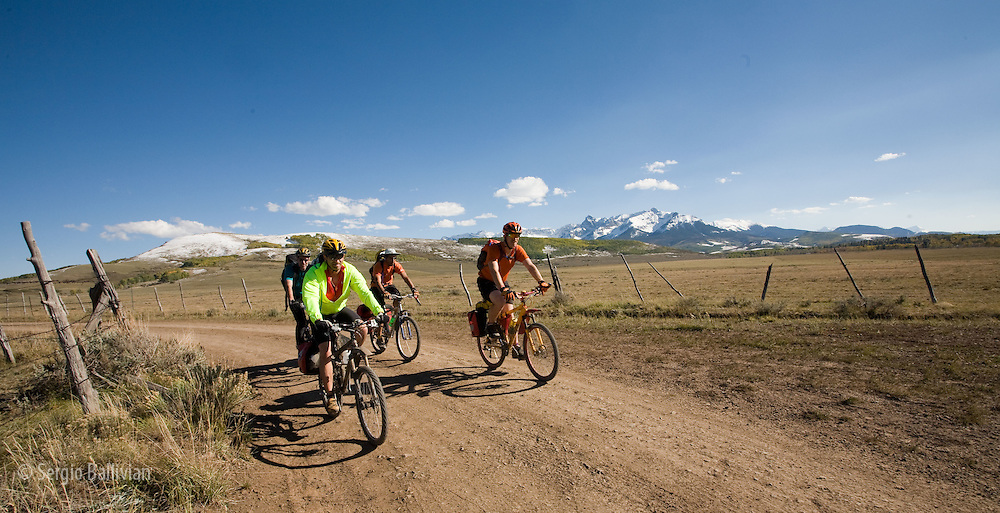 Cross-country mountain biking trip from Telluride, CO to Moab, UT