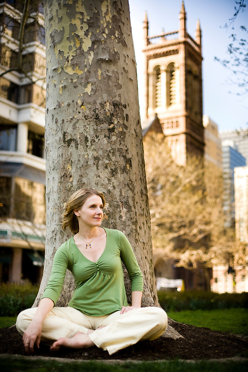 Elizabeth Gilbert is the author of the book Eat, Love and Pray and was pictured in Rittenhouse Square in Philadelphia, Pa.