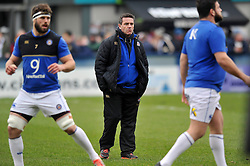 Bath Rugby Head Coach Mike Ford looks on during the pre-match warm-up - Mandatory byline: Patrick Khachfe/JMP - 07966 386802 - 13/02/2016 - RUGBY UNION - Sixways Stadium - Worcester, England - Worcester Warriors v Bath Rugby - Aviva Premiership.