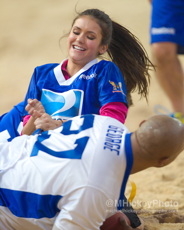 Nina Dobrev seen at the Direct TV Beach Bash during Super Bowl XLVI activities in Indianapolis, Indiana.