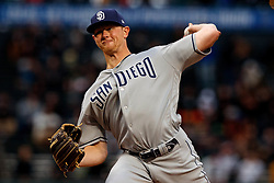 SAN FRANCISCO, CA - APRIL 08: Eric Lauer #46 of the San Diego Padres pitches against the San Francisco Giants during the first inning at Oracle Park on April 8, 2019 in San Francisco, California. The San Diego Padres defeated the San Francisco Giants 6-5. (Photo by Jason O. Watson/Getty Images) *** Local Caption *** Eric Lauer